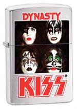 KISS Brushed Chrome Zippo Lighter