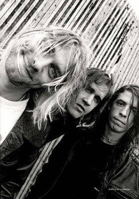 Kurt Cobain Group Shot Fabric Poster