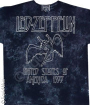 Led Zeppelin USA Tour 77 Tie-Dye T-Shirt