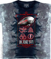 Led Zeppelin UK Tour 71 Tie-Dye T-Shirt