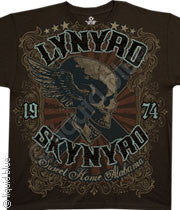 Lynyrd Skynyrd Sweet Home Alabama Brown Athletic T-Shirt