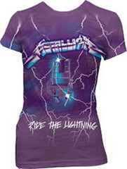 Metallica Purple Lightning Juniors T-Shirt