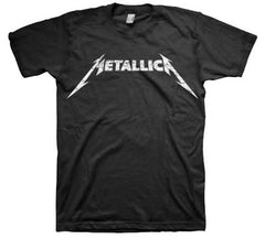 Metallica Black And White Logo T-Shirt
