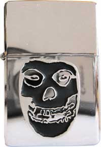 Misfits Skull Emblem Metal Refillable Lighter