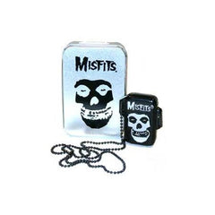 Misfits Skull Refillable Lighter With Tin