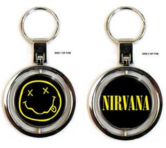 Nirvana Smiley Premium Spinner Keychain