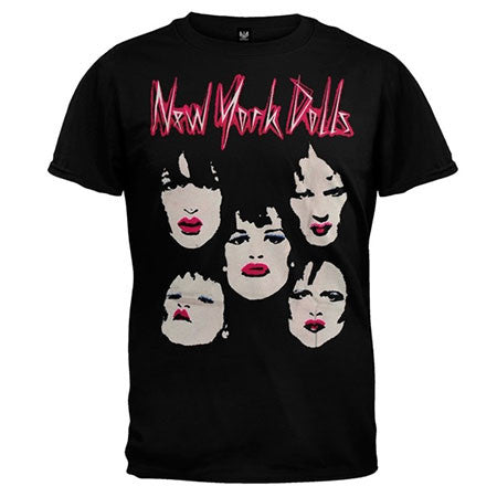 New York Dolls Faces Mens Lightweight T-Shirt