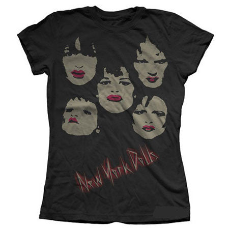 New York Dolls Faces Juniors Lightweight T-Shirt