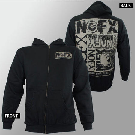 NOFX Crusty Skull Zip Up Hoodie
