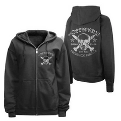 The Offspring Skull And Bombs Zip Hoodie