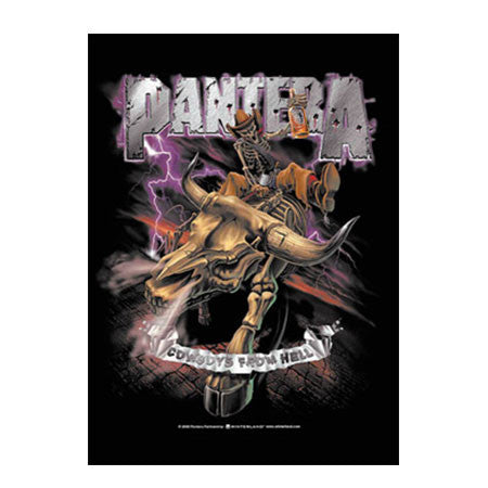 Pantera Cowboys From Hell Fabric Poster