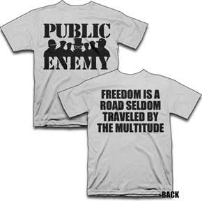 Public Enemy Group Silhouette T-Shirt