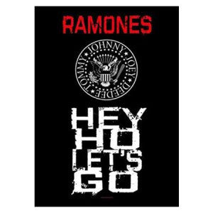 The Ramones Hey Ho Lets Go Fabric Poster