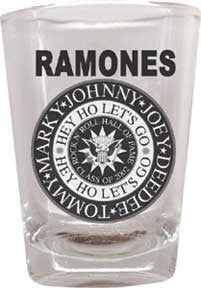 The Ramones Hey Ho Shot Glass