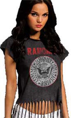 The Ramones Seal Fringe Top Juniors T-Shirt