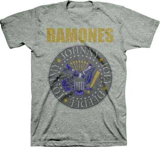 The Ramones Yellow And Blue Seal Mens T-Shirt