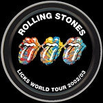 Rolling Stones Tongues Round Tin