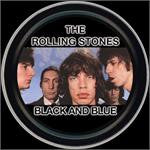 Rolling Stones Black and Blue Round Tin