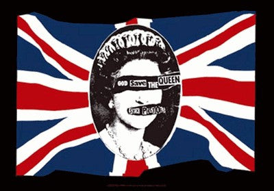 Sex Pistols God Save The Queen Fabric Poster