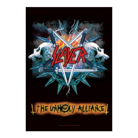 Slayer Unholy Alliance Fabric Poster