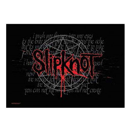 Slipknot Splattered Fabric Poster