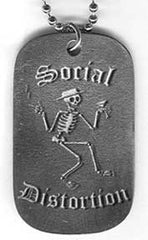 Social Distortion Skelly Dog Tag