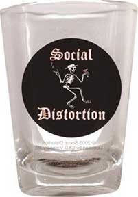 Social Distortion Drunk Skelly Shot Glass