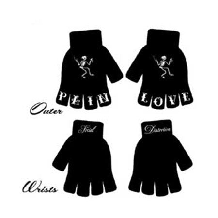 Social Distortion Pain Love Fingerless Gloves
