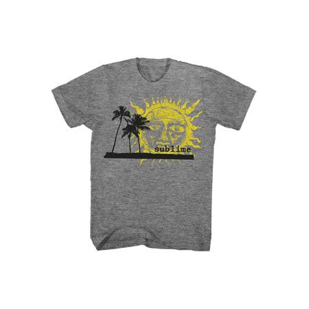 Sublime Palm Trees With Sun Mens T-Shirt