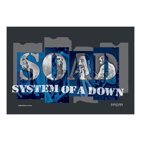 System of a Down Band Shot Fabric Poster