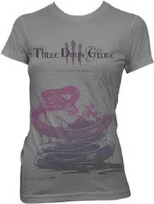 Three Days Grace Snake Killing Bird Juniors T-Shirt