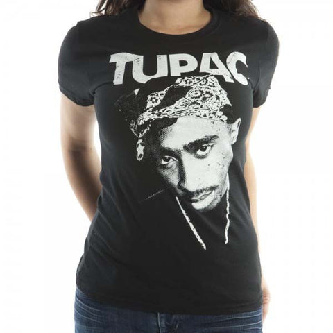 Tupac Shakur Distressed Face Juniors T-Shirt