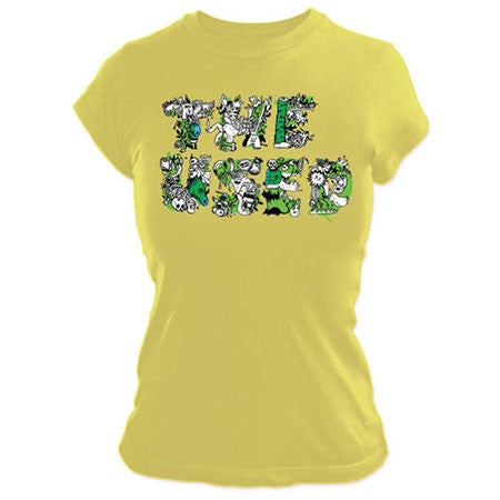 The Used Yellow Logo Juniors Tissue T-Shirt