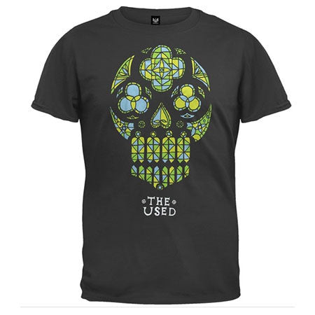 The Used Stained Glass Skull Mens Lightweight T-Shirt
