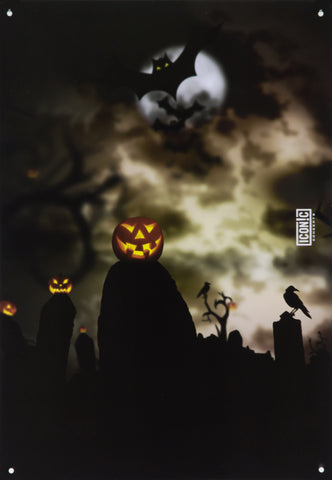 Halloween Pumpkin Heads Tin Sign