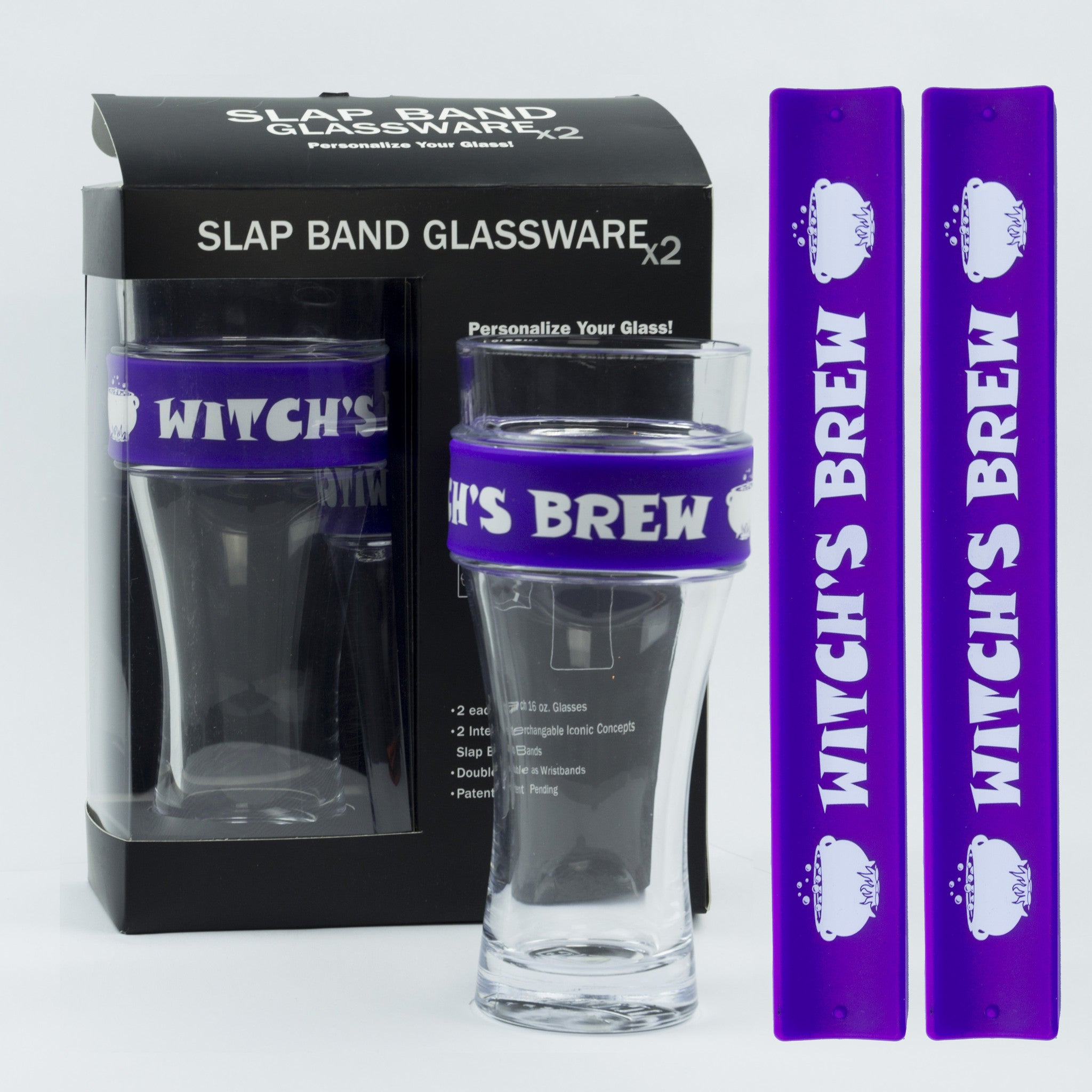 Halloween Slap Band Glassware - Witch