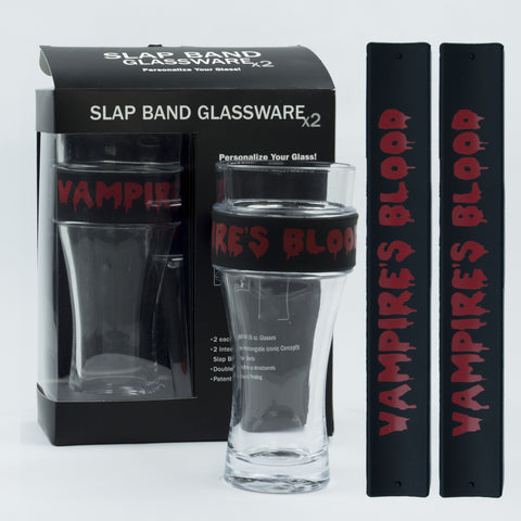 Halloween Slap Band Glassware - Vampires Blood