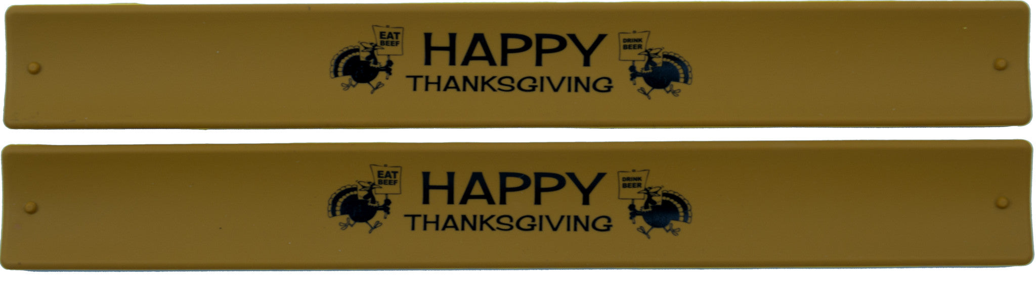 Thanksgiving Slap Bands  - Eat Beef Drink Beer