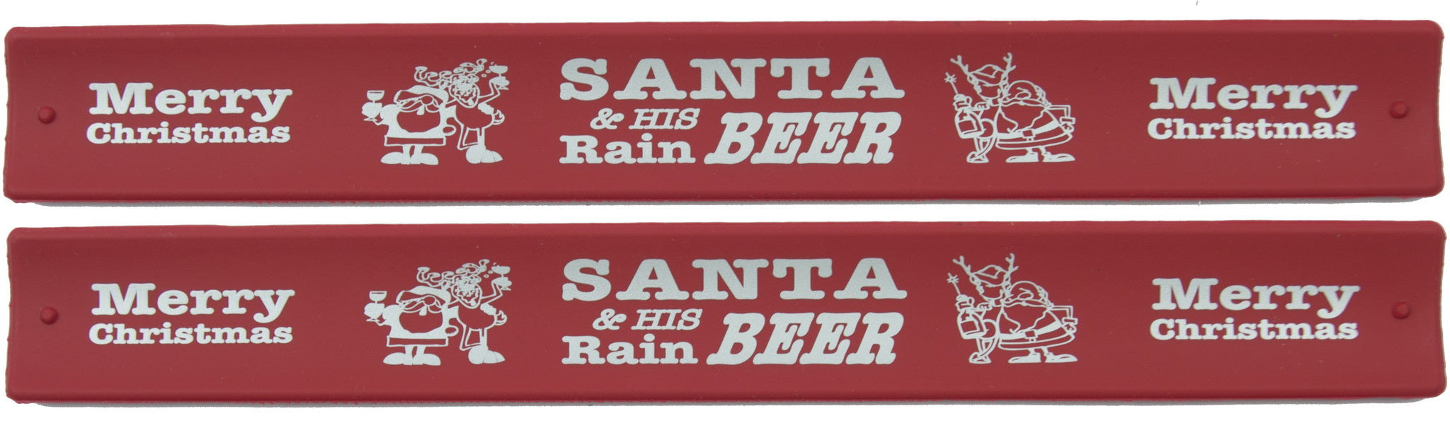 Holidays Slap Bands  - Santa And His Rainbeer