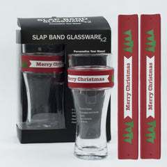 Holidays Slap Band Glassware - Merry Chirstmas