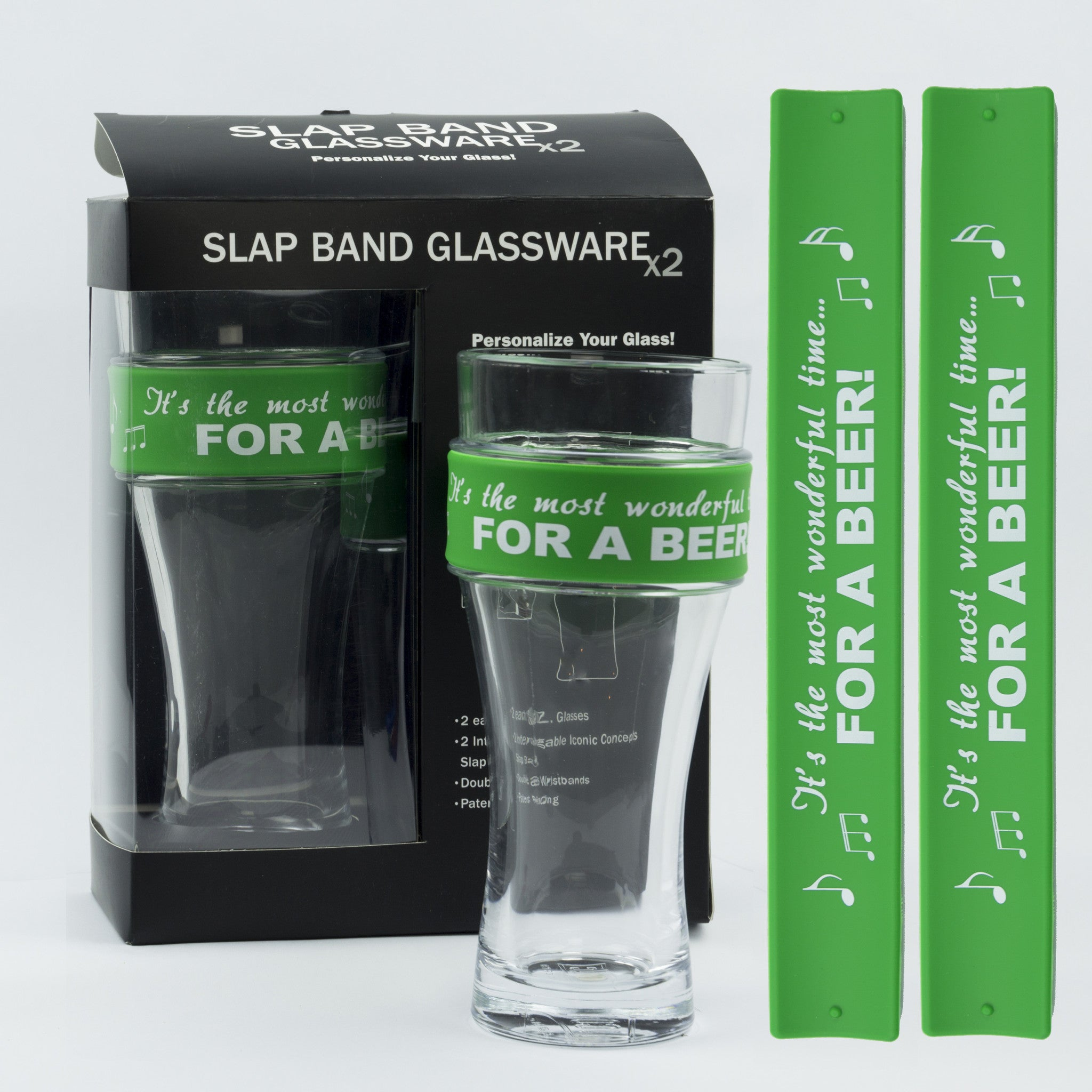 Holidays Slap Band Glassware - It's the Most Wonderful Time For A Beer