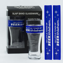 Holidays Slap Band Glassware - Oh Little Town Of Beerthlehem