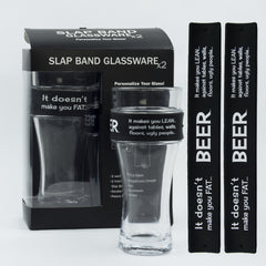 Humor Slap Band Glassware - Beer It Doesn't Make You Fat