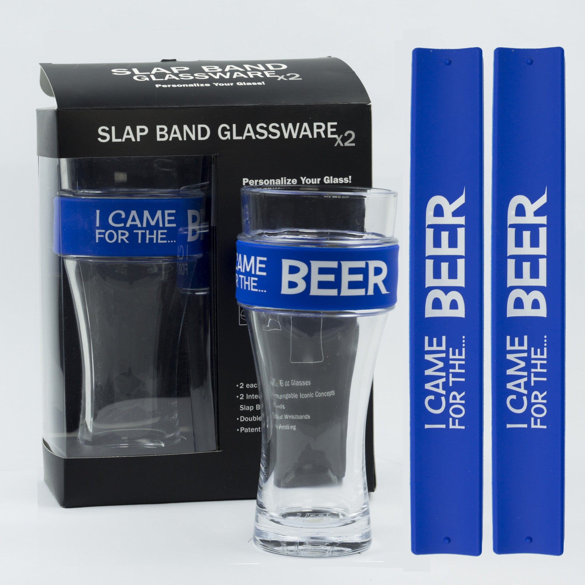 Humor Slap Band Glassware - I Came For The Beer
