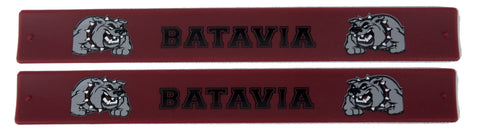 Batavia Slap Bands - Red With Bulldog