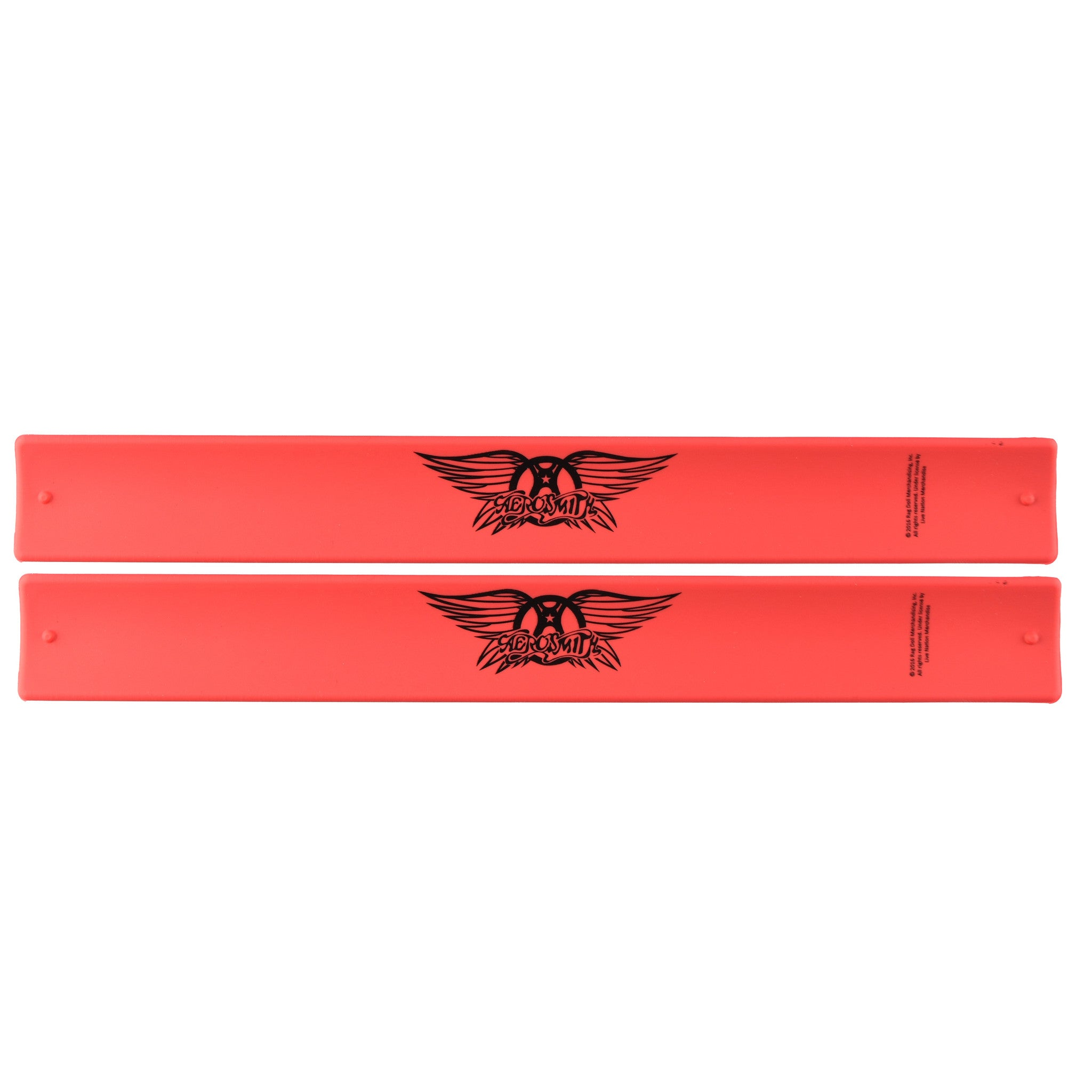 Aerosmith® Logo Slap Bands 2 Pack Red w/Black Logo