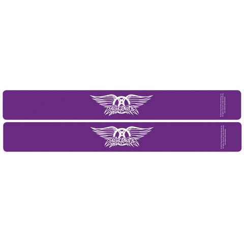 Aerosmith® Logo Slap Bands 2 Pack Purple w/White Logo
