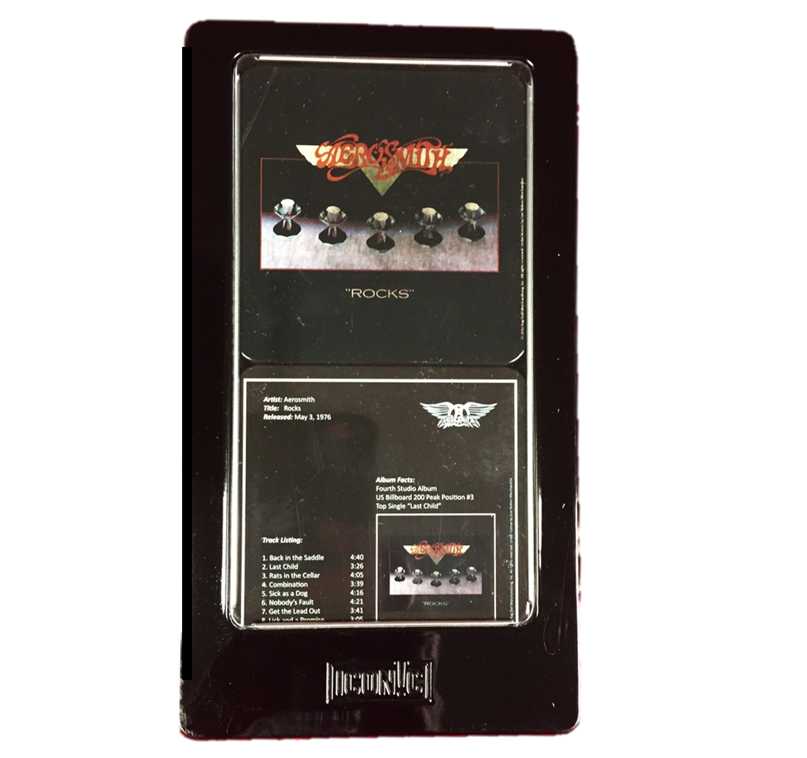 Aerosmith Permanent Vacation 6 Pc Tin Coaster Set