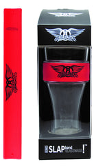 Aerosmith Slap Band Glassware - Single Pack with Slap Band Aerosmith  Logo - Red Band w/Black Logo