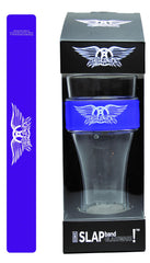 Aerosmith Slap Band Glassware - Single Pack with Slap Band Aerosmith  Logo - Purple Band w/White Logo